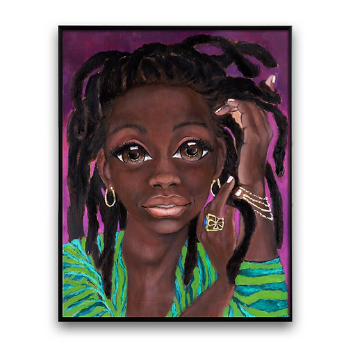 """The First Time He Told Me He Loved Me"":African Girl African Art"