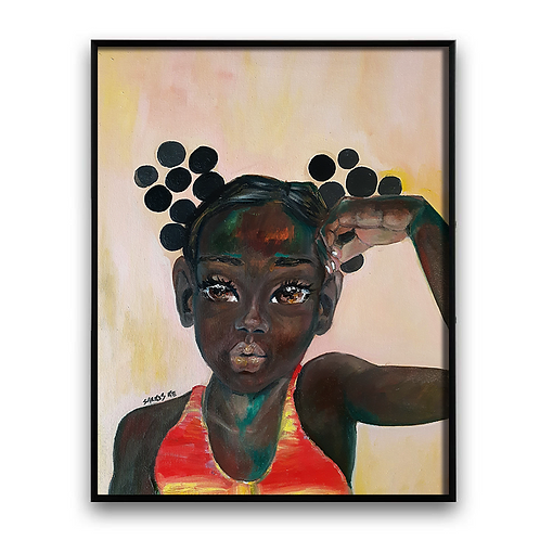 """To Be Brown"": Oil Painting African Girl African Art, African Portrait"