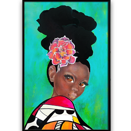 African Art, African Girl, Afro Art, natural hair Art
