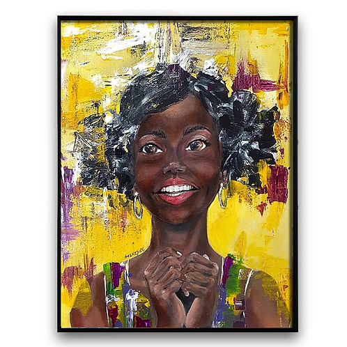 """""""Why DO You Say""""#2:African Girl African Art, African Portrait Painti"""