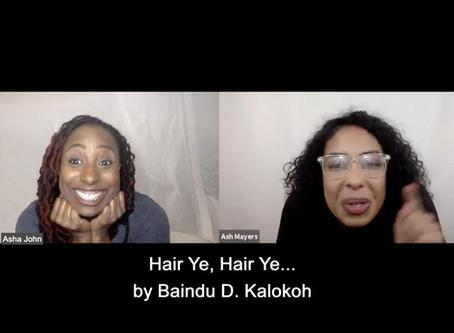 ESTRO-READ | HAIR YE, HAIR YE.... by Baindu D. Kalokoh