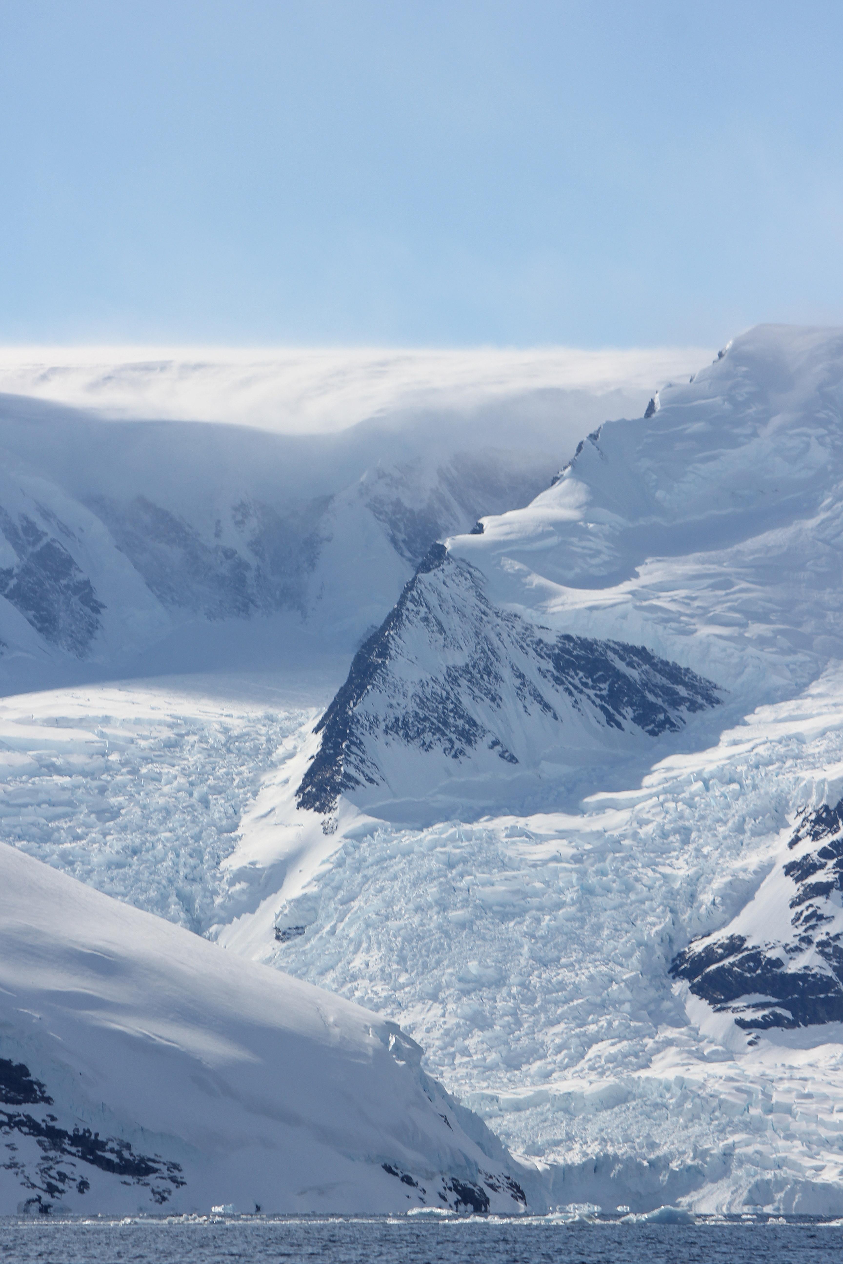 Glacier Winding Around a Jagged Peak