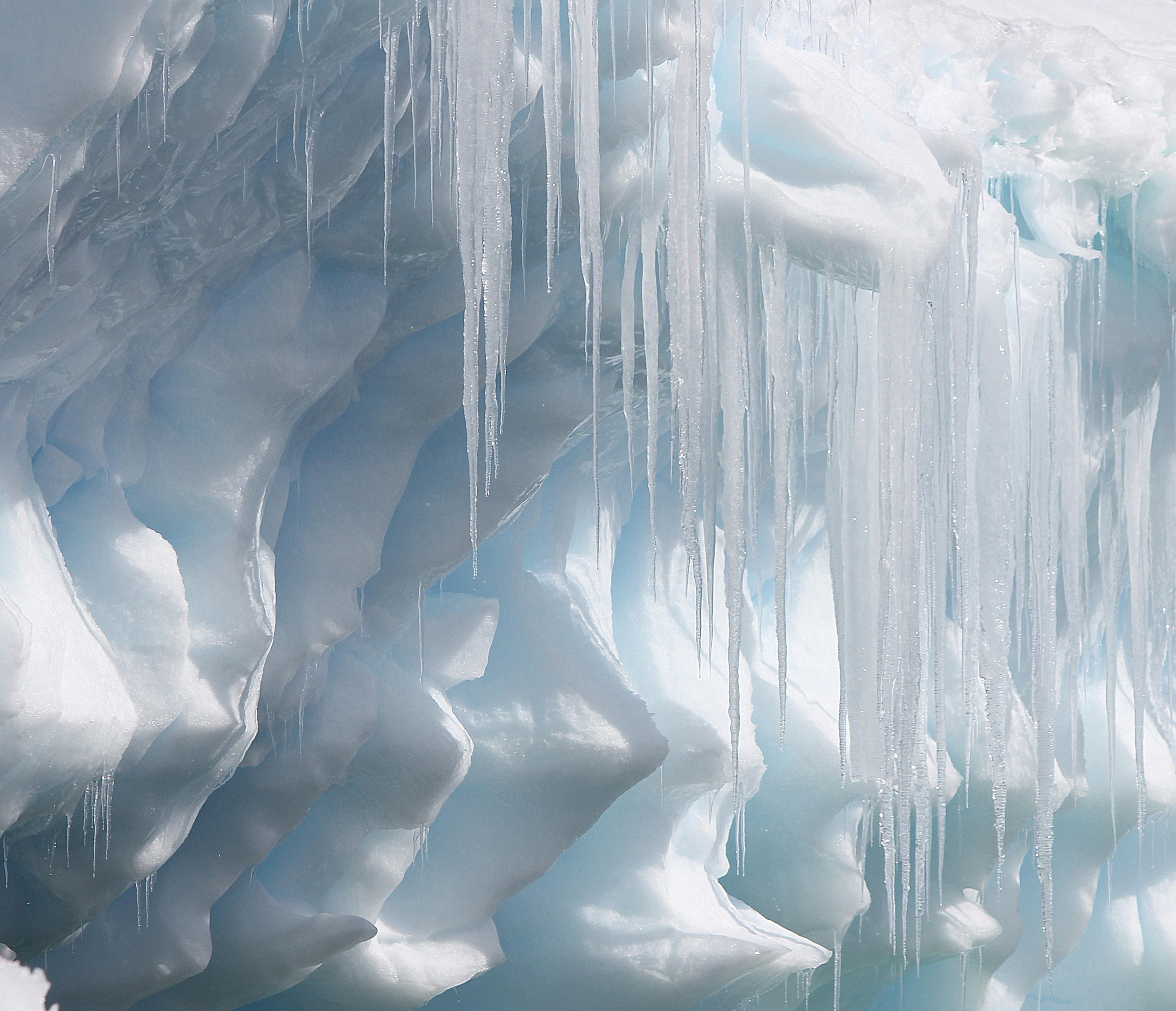 Icicles Drop from a Sculptured 'Berg, Paradise Bay, Antarctic Peninsula