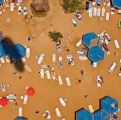 Sun Bathers, Dead Sea, Israel