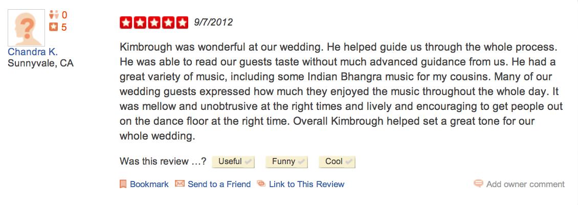 Chandra K-5-Star-DJ-Kimbrough-Yelp-Review