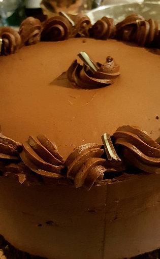 Crème de Menthe Chocolate Cake