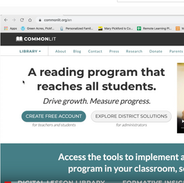 Using Free CommonLit Resources