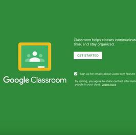 Logging into the Google Classroom App
