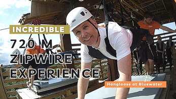 Incredible 720m zipwire experience