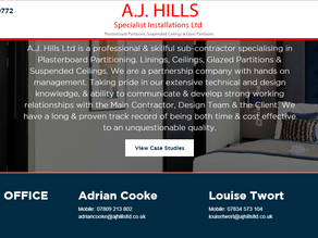New Website Design & Build For Construction Sub Contractor
