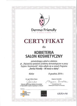 certyfikat kobieteria