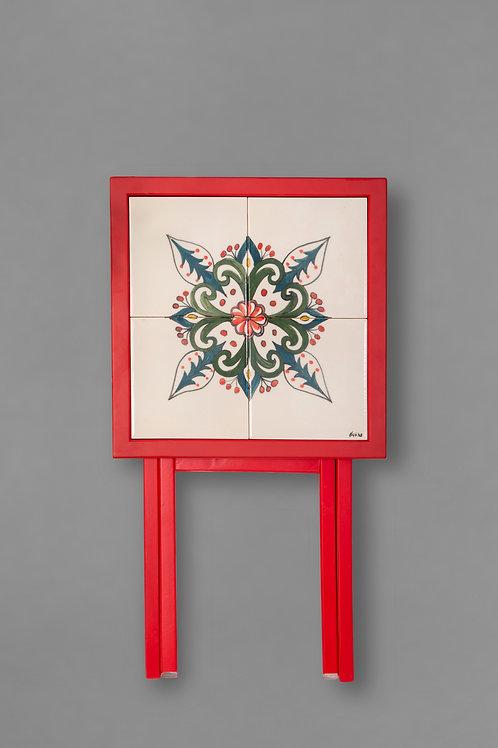 square ceramic & wood foldable table d2