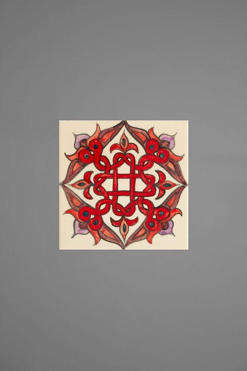 T1 Red Armenian Ceramic Tile