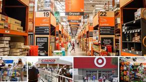 "2020: Movers and Shakers קטגוריות ""חמות"" בקמעונאות האמריקאית שמניבות גידול במכירות (מעבר למזון):"