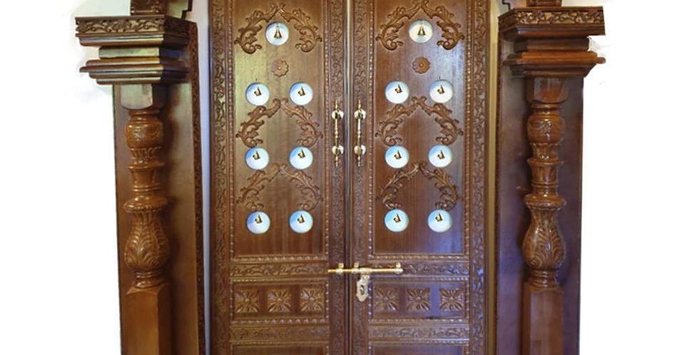 PR02 WOODEN POOJA DOORS