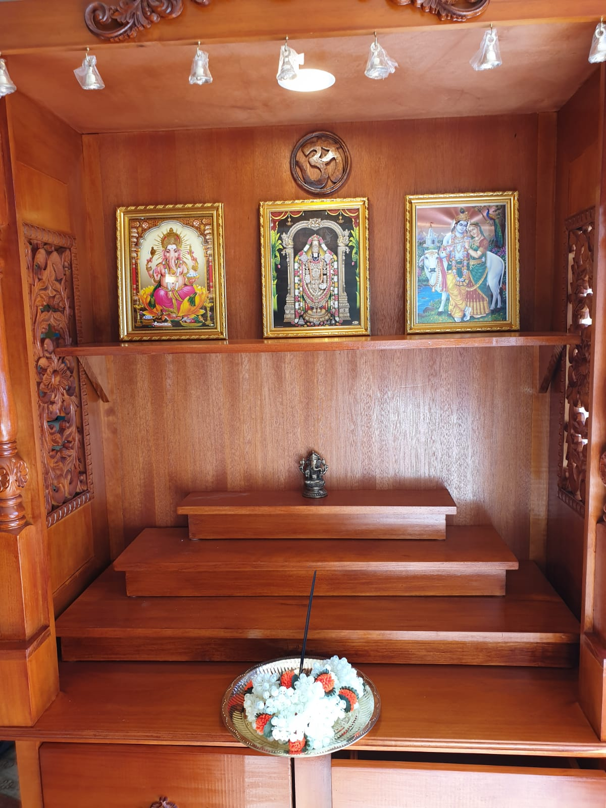 Mandir Interior- Three Stages & Shelf