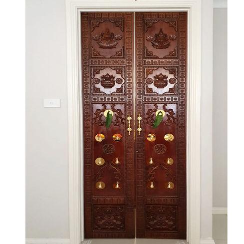 Wooden Puja Door
