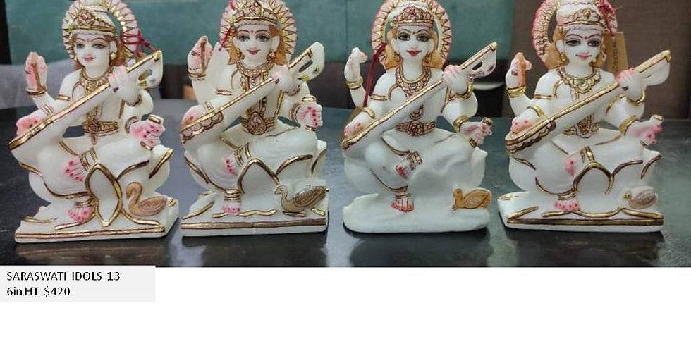 Goddess Saraswati 6in