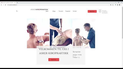 Bookingsystem Asker Kiropraktikk