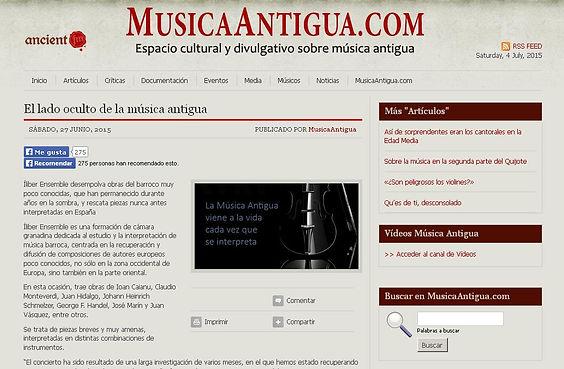 Íliber Ensemble - MusicaAntigua.com
