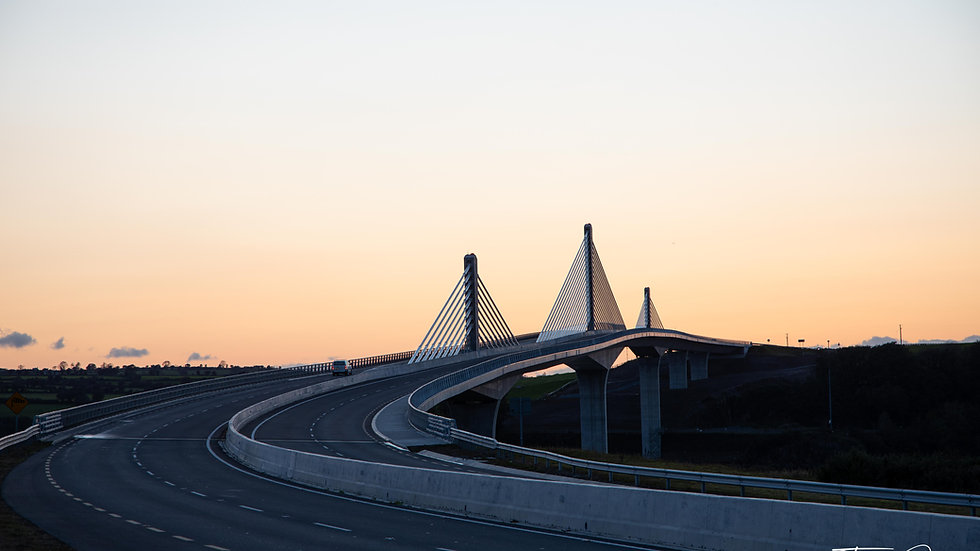 Rose Fitzgerald Kennedy Bridge at sunset