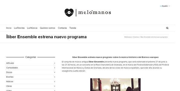 Íliber Ensemble - Melómanos