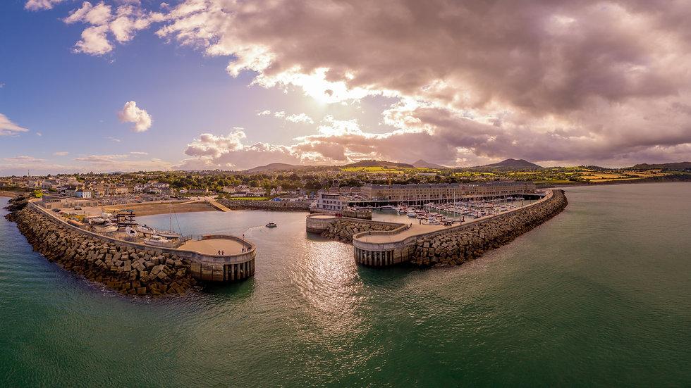 Greystones Harbour panoramic