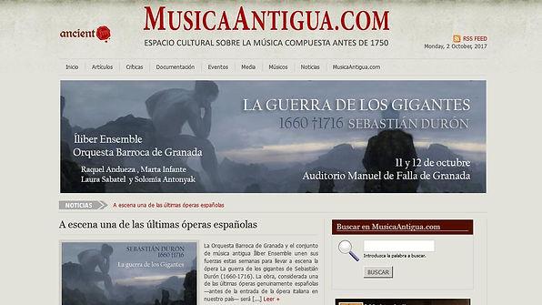 A escena una de las últimas óperas españolas | MusicaAntigua.com