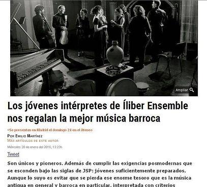 Los jóvenes intérpretes de Íliber Ensemble nos regalan la mejor música barroca | DiarioCritico.com