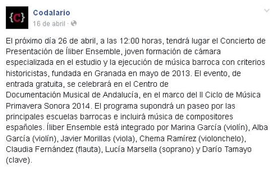 Íliber Ensemble - Codalario