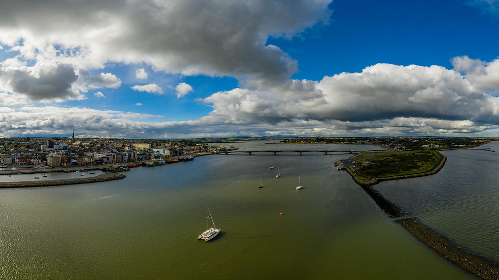 Wexford Town and Ferrybank full panorama