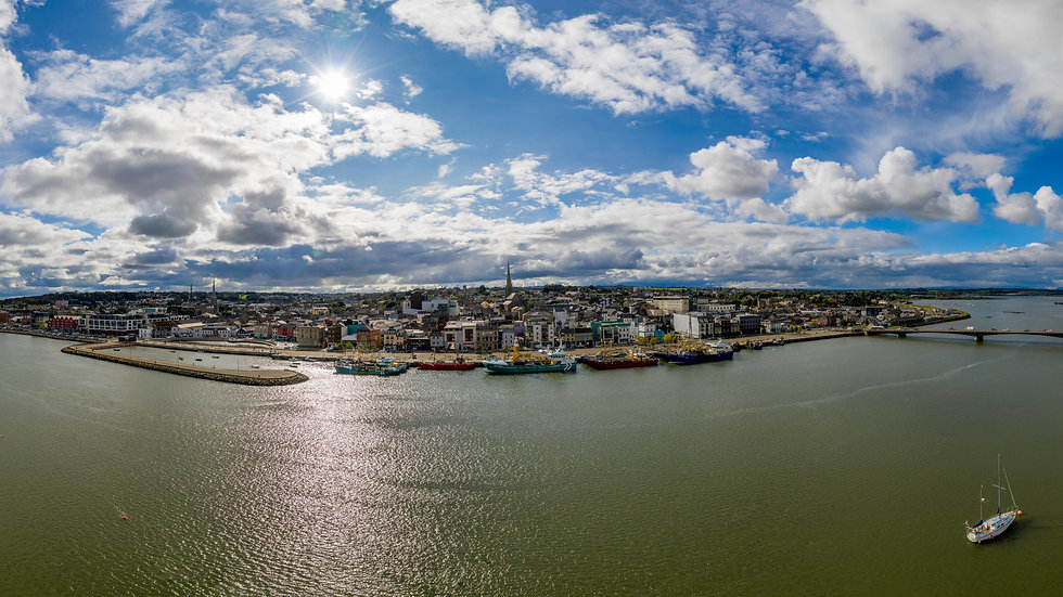 Wexford Town and Bridge full panorama