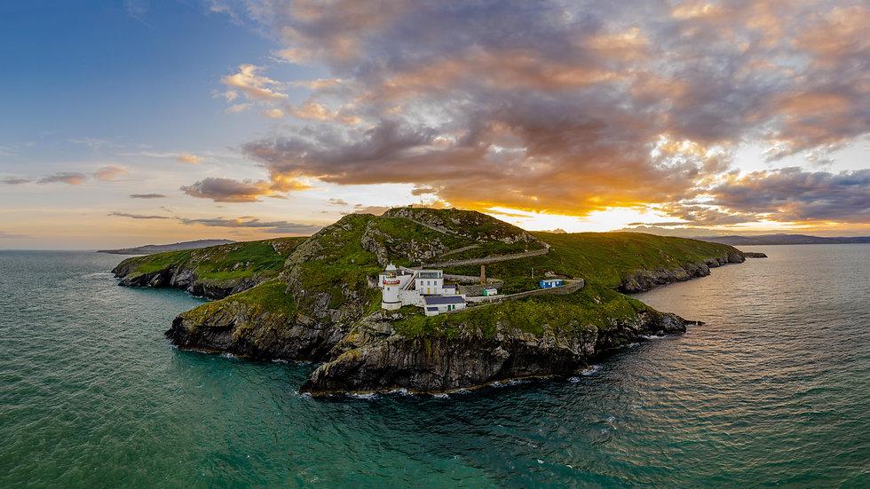 Wicklow Head & Lighthouse panoramic