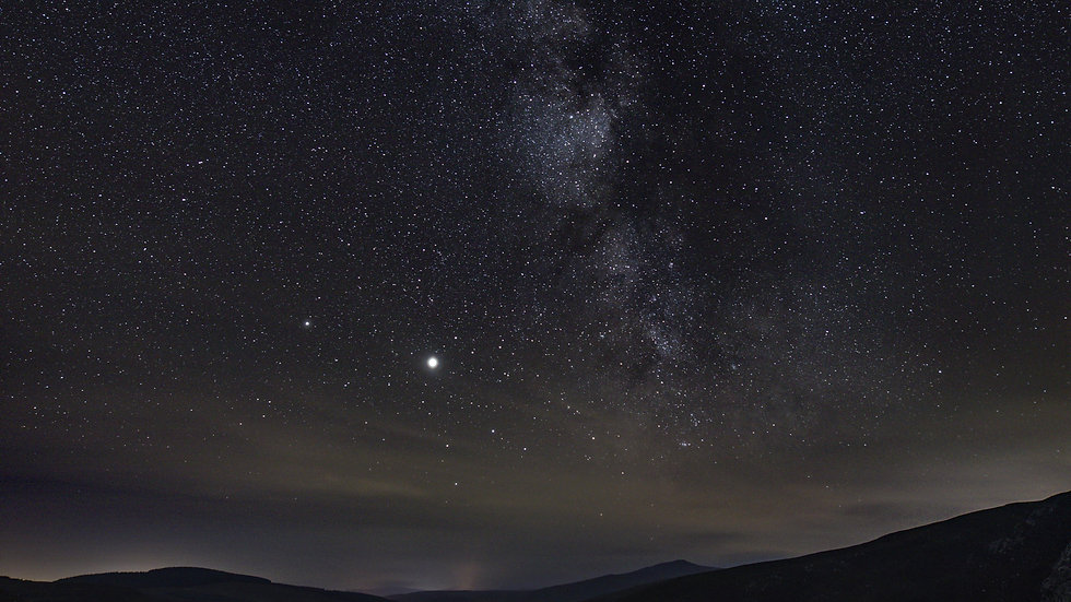 Milky way over Lough Tay