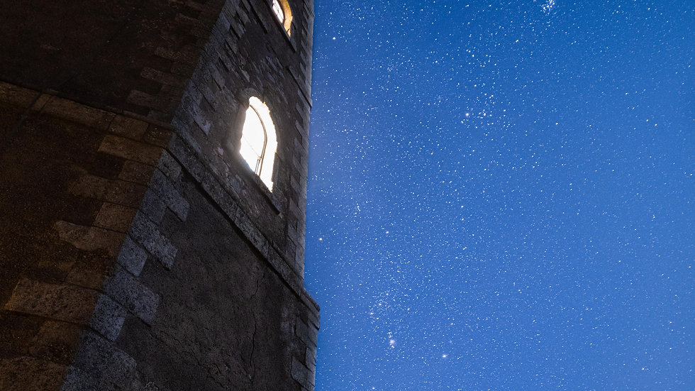 Orion over Wicklow Head Lighthouse