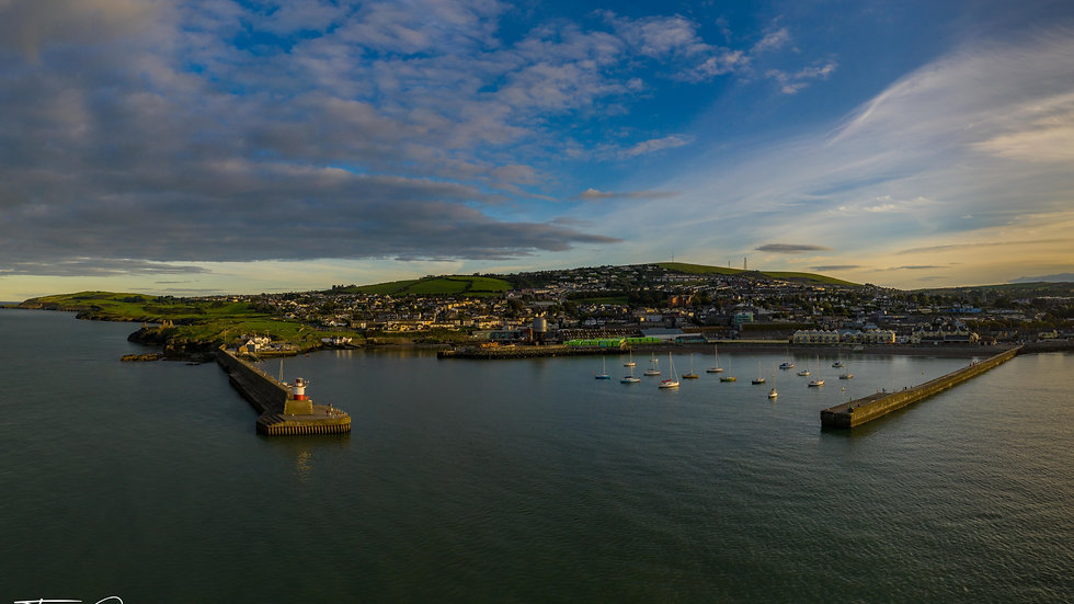 Wicklow Harbour sunset