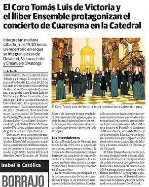 El Coro Tomás Luis de Victoria y el Íliber Ensemble protagonizan el concierto de Cuaresma en la Catedral | Ideal