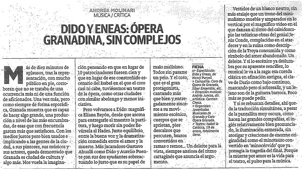 Dido y Eneas: Ópera granadina, si complejos | Andrés Molinari - Ideal