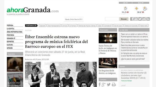 Íliber Ensemble - Ahora Granada