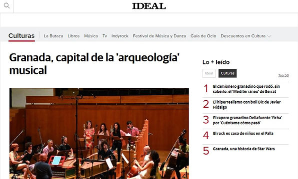 Granada, capital de la 'arqueología' musical | Ideal