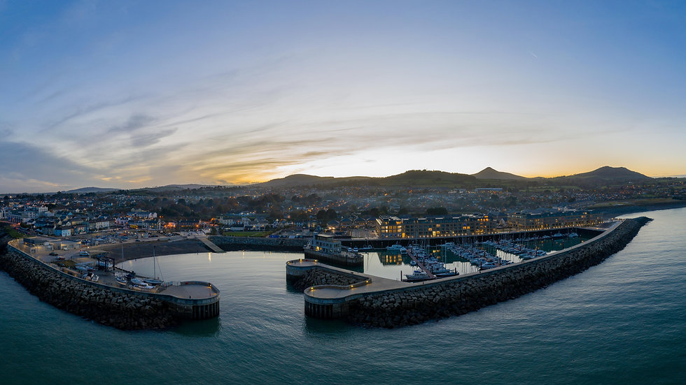 Greystones Harbour Marina panoramic