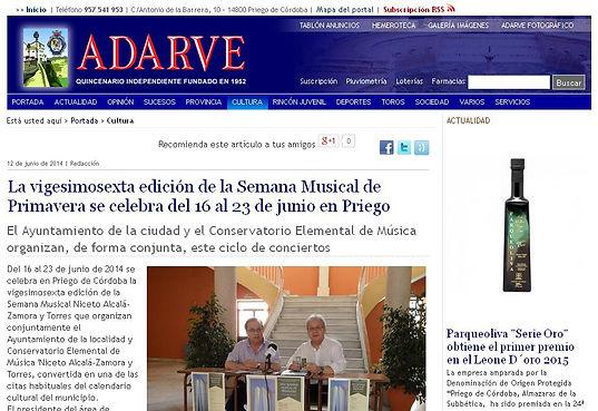 Íliber Ensemble - Periódico Adarve