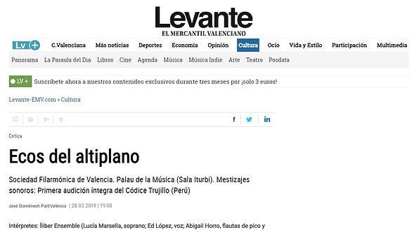 Ecos del altiplano | José Domènech Part - Levante