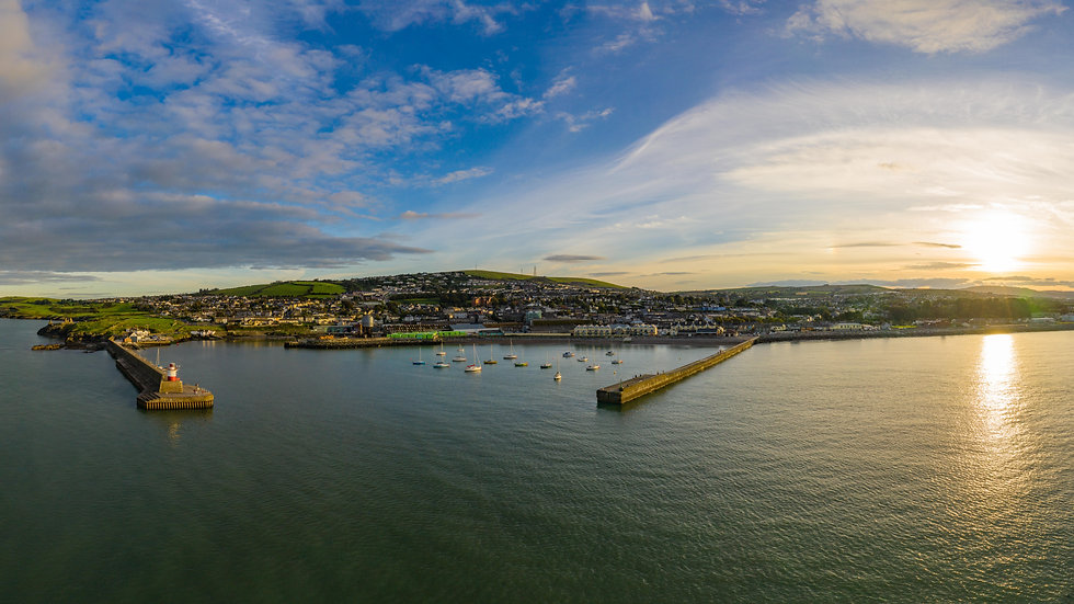 Wicklow Harbour panoramic