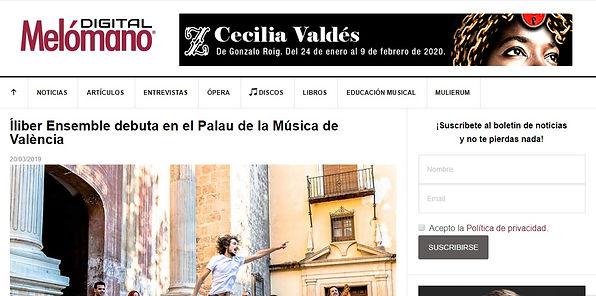 Íliber Ensemble debuta en el Palau de la Música de València | Melómano Digital