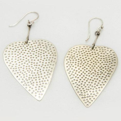 Bodhi Leaf silver earrings