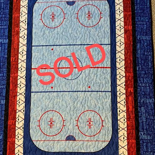 Hockey Quilt-SOLD