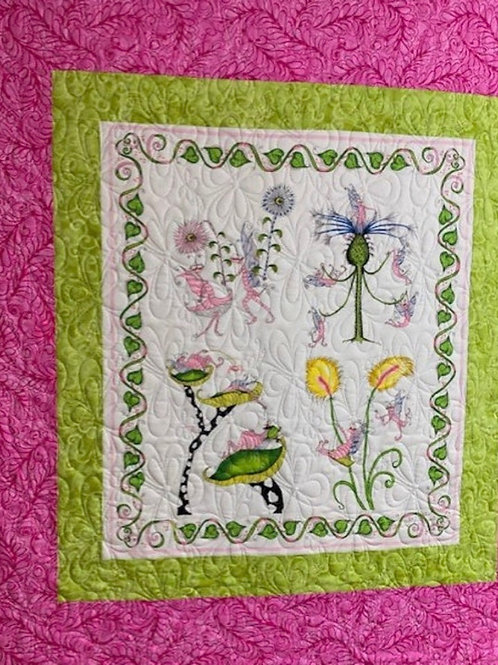 Pink Fairies Baby Quilt