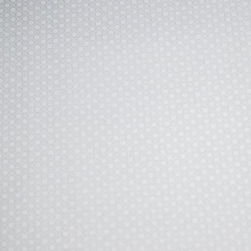 Daisies white on white fabric