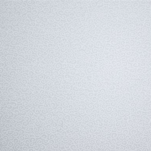 Swirl White on white fabric
